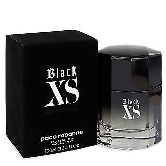 Black Xs Eau De Toilette Spray (2018 New Packaging) By Paco Rabanne 3.4 oz Eau De Toilette Spray