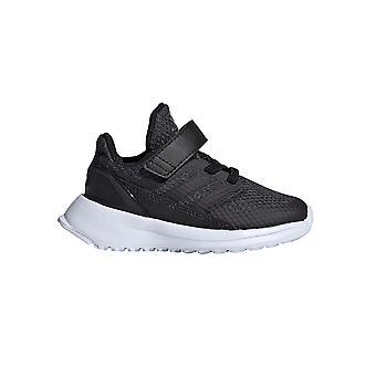 adidas RapidaRun Infant Kids Fashion Trainer Shoe Black/White