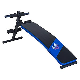 HOMCOM Ab Sit Up Bench Folding Abdominal Crunch Home Fitness Indoor Trainer Exercise Workout Machine