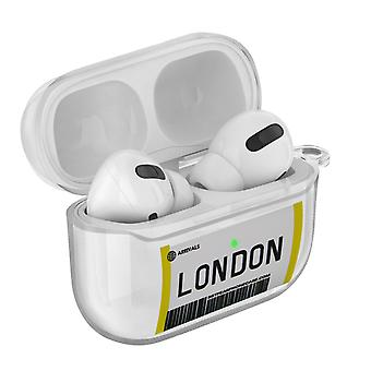 Coque AirPods Pro Design Billet London Souple Anti-rayure Mousqueton Transparent
