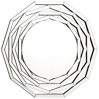 Specchio Rose Colore Cromo in MDF, Specchio, L80xP2xA76 cm