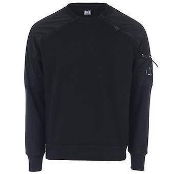 Men's C.P. Company Crew Neck Fleece Sweatshirt in Black