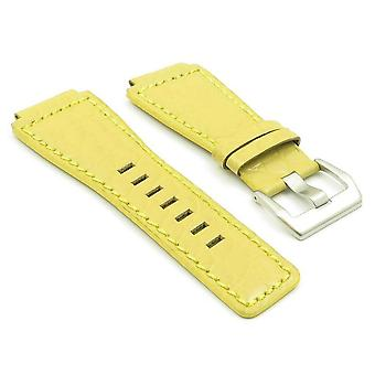 Bell and ross yellow watch strap dassari boulder alligator embosed leather stainless steel buckle