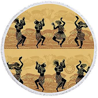African Dance Beach Towel