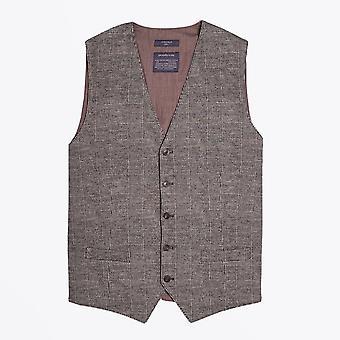 Circolo 1901  - Checked Stretch Waistcoat - Brown