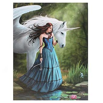 Anne Stokes Enchanted Pool Canvas