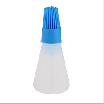 1 Pc Portable Silicone Oil Bottle with Brush Grill Liquid Oil Pastry Kitchen Baking BBQ Tool