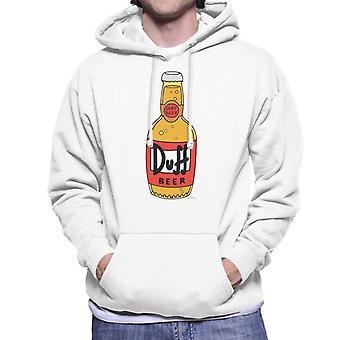 The Simpsons Duff Beer Bottle Men's Hooded Sweatshirt