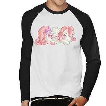 My Little Pony Fragola Sweetie Sleep Uomini's Baseball T-Shirt a maniche lunghe