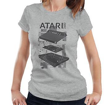 Atari 2600 Console Schematic Women's T-Shirt