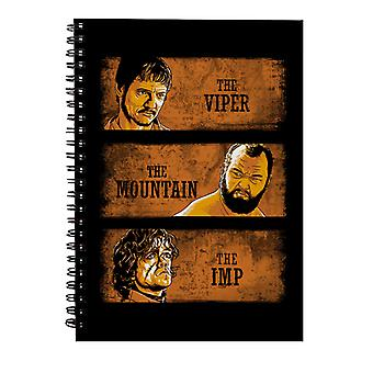 The Viper The Mountain And The Imp Game Of Thrones Spiral Notebook