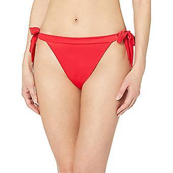 Essentials Women's Side Tie Bikini Badpak Bottom, Rood, M