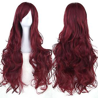 Ladies Cosplay Fashion Long Hair Anime Full Wavy Party Costume Wig - 80cm