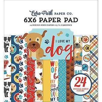 Echo Park I Love My Dog 6x6 Inch Paper Pad