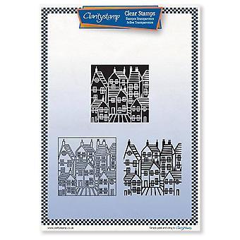 Claritystamp Rekkehus treveis overlegg A4 stempel sett