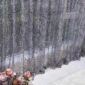 Home Decor Sheer Pannello Tulle Tenda per Soggiorno Camera da letto Finestra Voile Tende