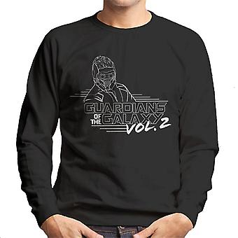 Marvel Guardians Of The Galaxy Vol 2 Star Lord Black And White Men's Sweatshirt