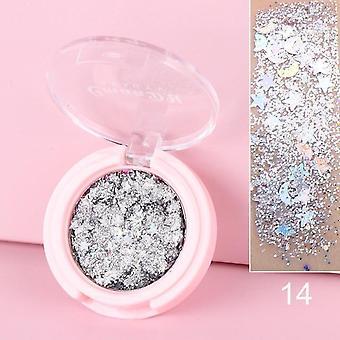 Glänzende Lidschatten Multicolor Matte Make-up lose Pulver lang anhaltende Glitter LidSchatten Perle Pulver