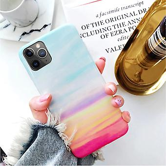 Moskado iPhone 11 Pro Max Case Marble Texture - Shockproof Glossy Case Granite Cover Cas TPU