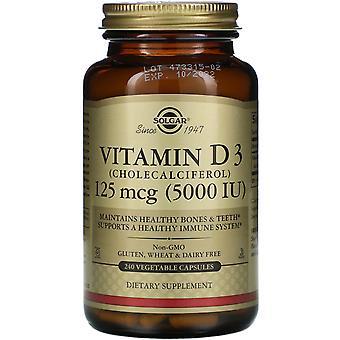 Solgar, Vitamin D3 (Cholecalciferol), 125 mcg (5,000 IU), 240 Vegetable Capsules