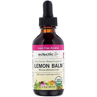 Eclectic Institute, Organic Lemon Balm, 2 fl oz (60 ml)