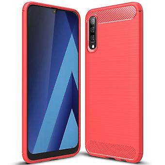 Single-Colored Carbon Fiber Shell for Samsung Galaxy A50 Shockproof TPU Mobile Case Mobile Protection