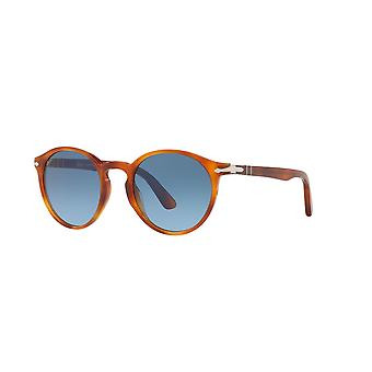 Persol PO3171S 96/Q8 Light Havana/Azure-Blue Gradient Glasses