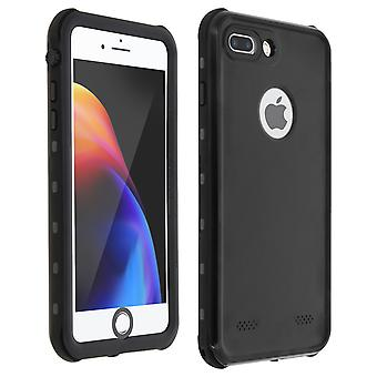 Waterproof Case for iPhone 7 Plus/8 Plus + Redpepper Tempered Glass Film - Black