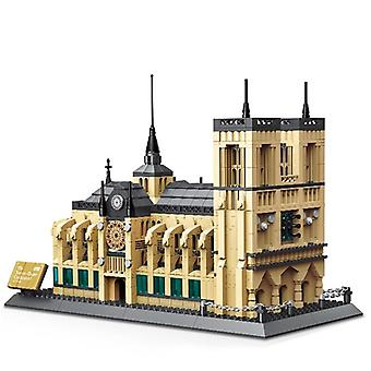 Mini Diamond Building Blocks-famous City Architecture-notre Dame Cathedral