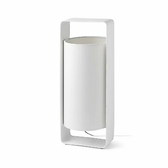 1 lichte grote tafellamp wit met schaduw, E27