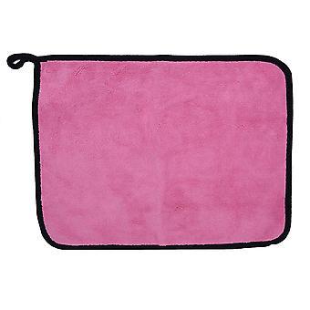 Dwustronny ręcznik z mikrofibry 3-pak - Różowy