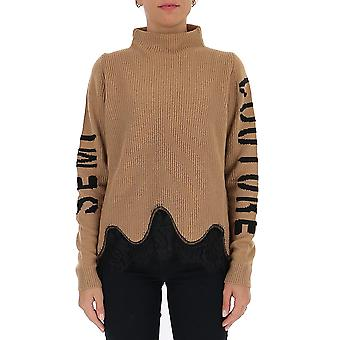 Semi-couture Y0wb12u710 Women's Brown Wool Sweater