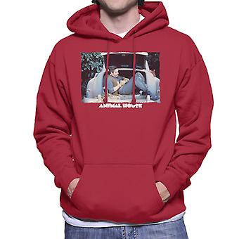 Animal House Daniel Simpson Sitting In Car Boot Men's Hooded Sweatshirt