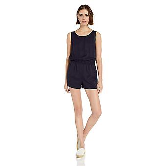 Daily Ritual Women's Tencel Sleeveless V-Back Romper, Black, 12