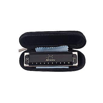 10-dołkowy instrument harmonijkowy instrument muzyczny Miedziany rdzeń Żywica Harmonica Black