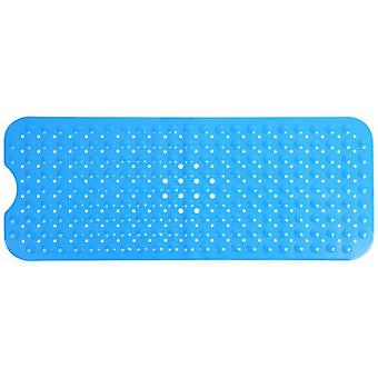 Tapete de segurança seguro de deslizamento de retângulo com copa de sucção, profissional de cor azul