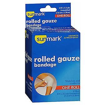 Sunmark Rolled Gauze Bandage, 3 Inches X 2.5 Yards 1 each