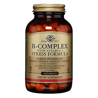 Solgar B-Complex C-vitamiinistressin kaavatableteilla, 250 tabia
