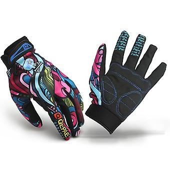 Moto Racing Biker Full Finger Gloves Skeleton Skull Bone Gloves