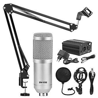Microfono Studimicrophone Kits Condenser Bundle Stand -karaoke Mic Pop Filter
