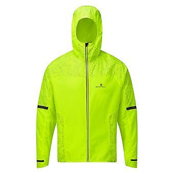 Ronhill Life Nightrunner Mens Water & Wind Resistent Hi-vis Running Jacket Fluo Geel
