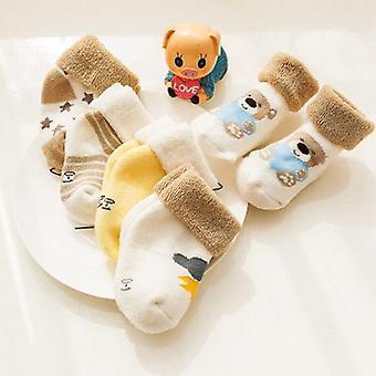 Épaississent les chaussettes de dessin animé confort chaussettes nouveau-nées de coton 5 chaussettes de bébé de garçon de paire de garçon nouveau-né