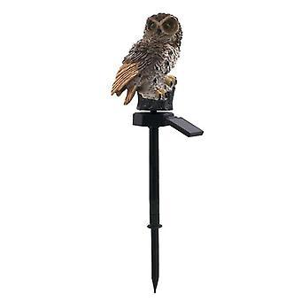 Udendørs Have Skulpturer Lampe Ugle Form til dekoration vandtæt fugl harpiks