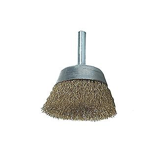 Lessmann DIY Cup Brush with Shank 50mm x 0.25 Brass Wire LES43012607