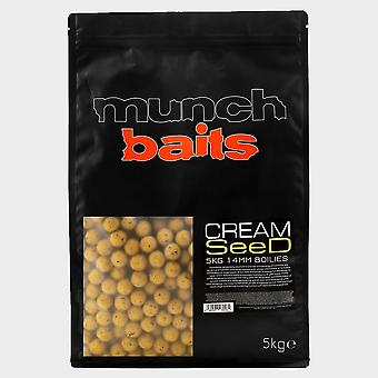 New Munch Cream Seed 14mm Boilies 5k shelf life Yellow