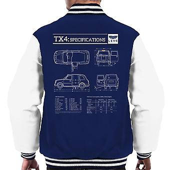London Taxi Company TX4 Specifications Levc Men's Varsity Jacket