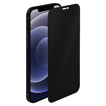 Temperli Cam iPhone 12/12 Pro Anti-Spy Anti-Shock 9H Anti-Spy mavi siyah