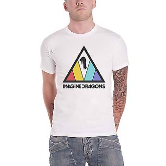Imagine Dragons T Shirt Triangle Band Logo new Official Mens White