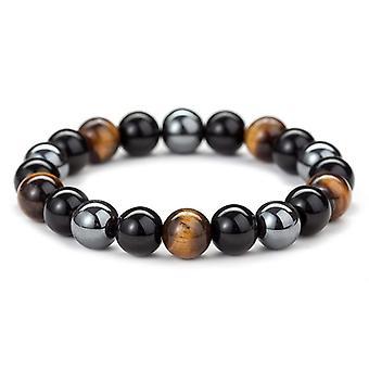 Hematite Stone Bead Cuplu Bratara De Îngrijire a Sănătății Magnet Bărbați-femei Pierdere bijuterii