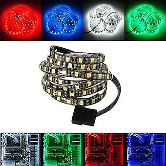 1.2M Waterproof 5050 LED Flexible Strip Background Light PC Computer Case DC12V